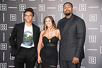 Perri, Francesca and Ashley Banjo<br /> arrives for the Dazn x Matchroom VIP Launch Event at the German Gymnasium Kings Cross, London<br /> <br /> ©Ash Knotek  D3569  27/07/2021