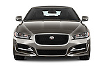 Car photography straight front view of a 2018 Jaguar XE 4dr-Sdn-20d-R-Sport-RWD 4 Door Sedan Front View
