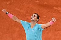 Finale Simple Messieurs -<br /> joie de Rafael Nadal (Esp) en fin de match<br /> Parigi 11/10/2020 Roland Garros <br /> Tennis Grande Slam 2020<br /> French Open <br /> Photo JB Autissier / Panoramic / Insidefoto <br /> ITALY ONLY