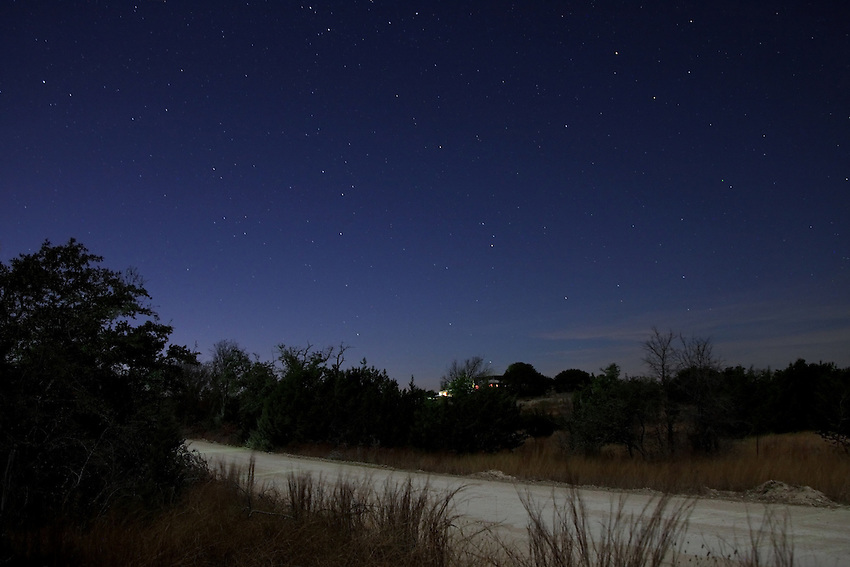 Cold December night in the Hill Country where I live.