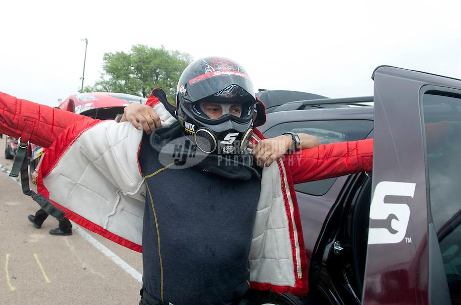 Apr. 30, 2011; Baytown, TX, USA: NHRA funny car driver Cruz Pedregon during qualifying for the Spring Nationals at Royal Purple Raceway. Mandatory Credit: Mark J. Rebilas-