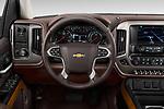Car pictures of steering wheel view of a 2018 Chevrolet Silverado-1500 High-Country-Crew 4 Door Pickup Steering Wheel
