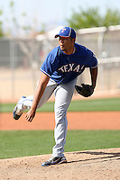 Jonathan Rojas, Texas Rangers minor league spring training..Photo by:  Bill Mitchell/Four Seam Images.