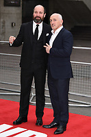 "Johnny Harris and Barry McGuigan<br /> at the ""Jawbone"" premiere held at the bfi, South Bank, London. <br /> <br /> <br /> ©Ash Knotek  D3263  08/05/2017"