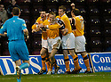 25/11/2006       Copyright Pic: James Stewart.File Name :sct_jspa16_motherwell_v_falkirk.RICHARD FORAN CELEBRATES AFTER HE SCORES MOTHERWELL'S SECOND.James Stewart Photo Agency 19 Carronlea Drive, Falkirk. FK2 8DN      Vat Reg No. 607 6932 25.Office     : +44 (0)1324 570906     .Mobile   : +44 (0)7721 416997.Fax         : +44 (0)1324 570906.E-mail  :  jim@jspa.co.uk.If you require further information then contact Jim Stewart on any of the numbers above.........