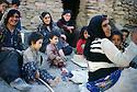 Iran 1983  .Women and children  in a village of Sardasht district, near the Iraqi border.Iran 1983 .Femmes et enfants dans un village de la region de Sardasht , pres de la frontiere irakienne