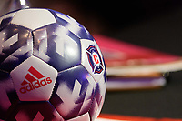 Philadelphia, PA - Friday January 19, 2018: Chicago Fire adidas soccer ball during the 2018 MLS SuperDraft at the Pennsylvania Convention Center.