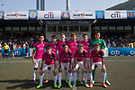 Olympique Marseille (in navy blue) vs Kitchee (in pink), during their Main Tournament match, part of the HKFC Citi Soccer Sevens 2017 on 27 May 2017 at the Hong Kong Football Club, Hong Kong, China. Photo by Chris Wong / Power Sport Images