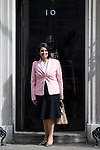 © Joel Goodman - 07973 332324 . 11/05/2015 . London , UK . PRITI PATEL arrives at 10 Downing Street this morning (11th May 2015) . Photo credit : Joel Goodman