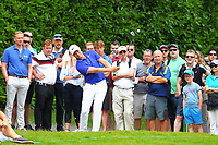 Oliver Fisher on the 4th fairway during the BMW PGA Golf Championship at Wentworth Golf Course, Wentworth Drive, Virginia Water, England on 28 May 2017. Photo by Steve McCarthy/PRiME Media Images.