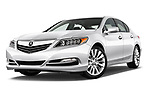 Stock pictures of low aggressive front three quarter view of 2014-2016 Acura RLX Base 4 Door Sedan