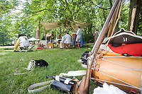 Muskets and gear, Revolutionary War, Monmouth Battlefield State Park, New Jersey