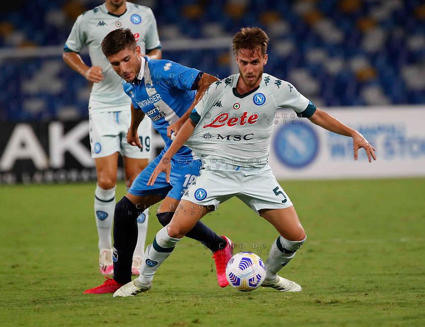 Luca Palmikero during a friendly match Napoli - Pescara  at Stadio San Paoli in Naples