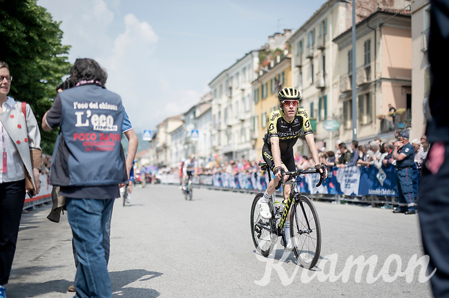 at the race start in Pinerelo<br /> <br /> Stage 13: Pinerolo to Ceresole Reale/Lago Serrù (196km)<br /> 102nd Giro d'Italia 2019<br /> <br /> ©kramon