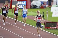26th August 2021; Lausanne, Switzerland;  Moritz EBBESKOTTE wins the mens 1500m during Diamond League athletics meeting  at La Pontaise Olympic Stadium in Lausanne, Switzerland.