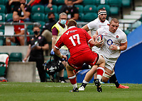 10th July 2021; Twickenham, London, England; International Rugby Union England versus Canada; Sam Underhill of England making ground and taking the ball over the game line