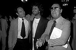 ALBERTO SORDI CON CARLO VERDONE E BEPPE GRILLO<br /> SERATA DEI DAVID DI DONATELLO ROMA 1982