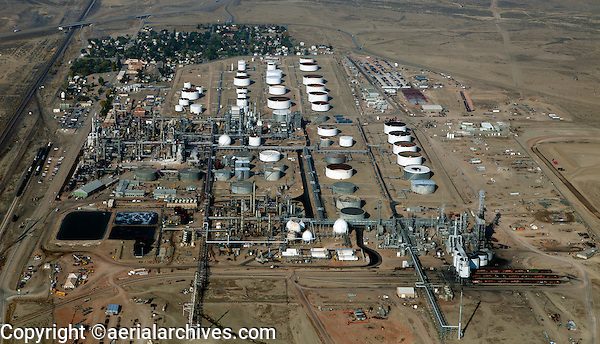 aerial photograph of Sinclair Oil Refinery, Sinclair, Wyoming