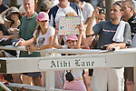 24-Jul-10: Track patrons displaying their Rachel Alexandra signs in the paddock.