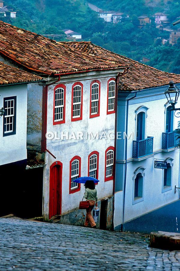 Cidade histórica de Ouro Preto. Minas Gerais. 1973. Foto de Juca Martins.