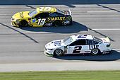 #19: Daniel Suarez, Joe Gibbs Racing, Toyota Camry STANLEY, #2: Brad Keselowski, Team Penske, Ford Fusion Miller Lite