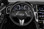 Car pictures of steering wheel view of a 2017 Infiniti Q60 Premium 2 Door Coupe Steering Wheel