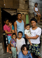 Jerry Villegas, 33,  who donated his kidney at St Luke's to a foreigner. He has 7 children and did it after his house burnt dow.  Men from the Basico port area slum of Manilasell their kidney's for between 70,000 -  90,000 pesos (800 - 1030 pounds).  More than 300 have sold their kidneys in this slum of 16,000 people.<br /> <br /> <br /> PHOTO BY RICHARD JONES