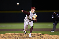 Virginia Tech Hokies relief pitcher Griffin Green (46) in action against the Georgia Tech Yellow Jackets at English Field on April 16, 2021 in Blacksburg, Virginia. (Brian Westerholt/Four Seam Images)
