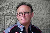 Jul. 1, 2012; Joliet, IL, USA: NHRA top fuel dragster driver Doug Kalitta during the Route 66 Nationals at Route 66 Raceway. Mandatory Credit: Mark J. Rebilas-