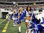 Dallas Cowboys cheerleaders in action during the Thanksgiving Day game between the Miami Dolphins and the Dallas Cowboys at the Cowboys Stadium in Arlington, Texas. Dallas defeats Miami 20 to 19...