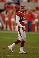 Nov. 6, 2005; Tempe, AZ, USA; Safety (34) Robert Griffith of the Arizona Cardinals against the Seattle Seahawks at Sun Devil Stadium. Mandatory Credit: Mark J. Rebilas