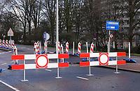 Nederland  Amsterdam   24 Jan. 2021.   Verboden in te rijden.   Foto Berlinda van Dam / HH / ANP.