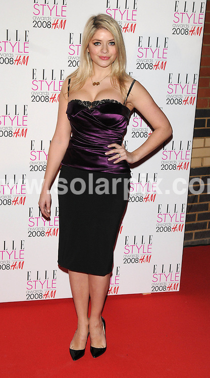 **ALL ROUND PICTURES FROM SOLARPIX.COM**.**WORLDWIDE SYNDICATION RIGHTS**.Celebrities arrive for the Elle Style Awards at The Roundhouse, London. 12th February 2008..This pic: Holly Willoughby..JOB REF: 5777 ATM     DATE: 12_02_2008.**MUST CREDIT SOLARPIX.COM OR DOUBLE FEE WILL BE CHARGED* *UNDER NO CIRCUMSTANCES IS THIS IMAGE TO BE REPRODUCED FOR ANY ONLINE EDITION WITHOUT PRIOR PERMISSION*