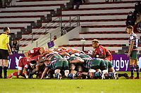 26th September 2020; Toulon, France; European Challenge Cup Rugby, semi-final; RC Toulon versus Leicester Tigers;  Sonatane Takulua (RC Toulon) puts into the scrum