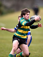 Michael Manson in action during the Otago premier club rugby union match between Kaikorai and Green Island at Bishopscourt Park in Dunedin, New Zealand on Saturday, 4 July 2020. Photo: Joe Allison / lintottphoto.co.nz