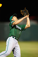 Daytona Tortugas third baseman Nick Senzel (13) catches a popup during a game against the Florida Fire Frogs on April 6, 2017 at Osceola County Stadium in Kissimmee, Florida.  Daytona defeated Florida 3-1.  (Mike Janes/Four Seam Images)