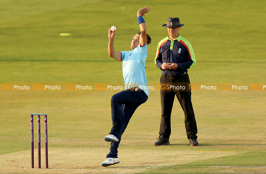 Aaron Beard of Essex in bowling action  during Essex Eagles vs Cambridgeshire CCC, Domestic One-Day Cricket Match at The Cloudfm County Ground on 20th July 2021