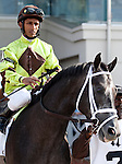 March 2010:  Mission Impazible and Rajiv Maragh before the Louisiana Derby at the Fair Grounds in New Orleans, La.