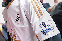 Close up of a Swansea City shirt during the Barclays Premier League match between Sunderland and Swansea City played at Stadium of Light, Sunderland