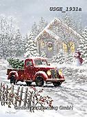 Dona Gelsinger, CHRISTMAS LANDSCAPES, WEIHNACHTEN WINTERLANDSCHAFTEN, NAVIDAD PAISAJES DE INVIERNO,truck,<br /> paintings+++++,USGE1931A,#xl#