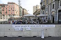 - Milano, settembre 2017, barriere di cemento in zona Darsena dopo gli ultimi attentati terroristici di Barcellona<br /> <br /> - Milan, September 2017, concrete barriers in the Darsena area after the recent terrorist attacks in Barcelona