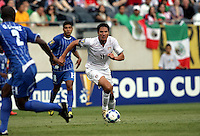 Brian Ching (11) sprints toward the Honduran goal.  The US Men's National Team defeated Honduras 2-0 in the semifinals of the Gold Cup at Soldier Field in Chicago, IL on July 23, 2009.