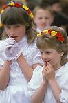 Helston Furry dance May 8th Cornwall 1980s. UK