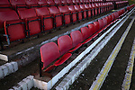 Alvechurch FC 3 Highgate United 0, 26/12/2016. Lye Meadow, Midland Football League Premier Division. Seats in the stand at Lye Meadow before Alvechurch hosted Highgate United in a Midland Football League premier division match. Originally founded in 1929 and reformed in 1996 after going bust, the club has plans to move from their current historic ground to a new purpose-built stadium in time for the 2017-18 season. Alvechurch won this particular match by 3-0, watched by 178 spectators, taking them back to the top of the league. Photo by Colin McPherson.