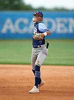 St. Johns Country Day Spartans second baseman Shaun Andrade (6) during the IMG National Classic on March 29, 2021 at IMG Academy in Bradenton, Florida.  (Mike Janes/Four Seam Images)