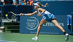 Eugenie Bouchard (CAN) loses to Serena Williams (USA) 4-6, 6-2, 6-2 at the Western & Southern Open in Mason, OH on August 14, 2013.