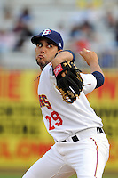 Brooklyn Cyclones pitcher Gabriel Ynoa (29) during game against the Staten Island Yankees at MCU Park on June 18, 2012 in Brooklyn, NY.  Brooklyn defeated Staten Island 2-0.  Tomasso DeRosa/Four Seam Images
