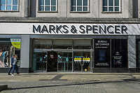 Pictured: A general view of Marks & Spencer in Swansea City Centre during the Covid-19 Coronavirus pandemic in Wales, UK, Swansea, Wales, UK. Monday 23 March 2020
