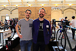 Lee Prescott Velo Atelier stand at Bespoked 2018 UK handmade bicycle show held at Brunel's Old Station & Engine Shed, Bristol, England. 21st April 2018.<br /> Picture: Eoin Clarke | Cyclefile<br /> <br /> <br /> All photos usage must carry mandatory copyright credit (© Cyclefile | Eoin Clarke)