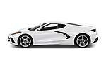 Car Driver side profile view of a 2020 Chevrolet Corvette-Stingray 1LT 3 Door Targa Side View